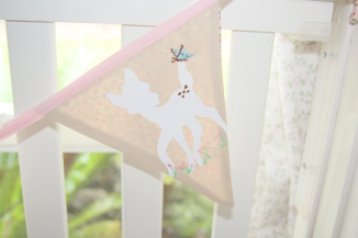 Hand embroidered bunting
